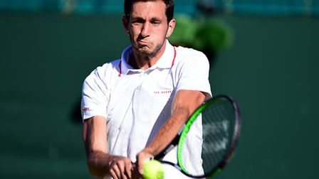 James Ward beat Luca Vanni in the first round at Wimbledon this evening