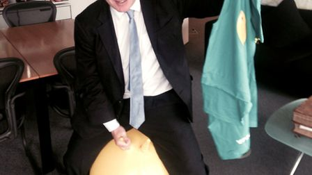Mayor of London Boris Johnson is lending his support to KIDS' summer spacehopper campaign