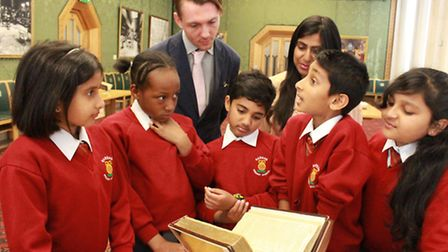 Feni, Kiya, Alix, Ashwarth and Kailashh are the first children from a primary class to see the 392-y