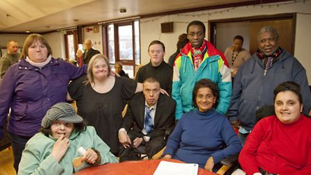 Service users and their carers at the New Millennium Day Centre in Robson Avenue