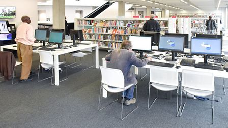 There are 140 study spaces in the library (Pic credit: Brent Council)