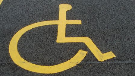 Parking space for disabled person/