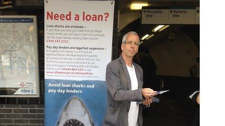 Members of the Islington Debt Coalition campaigned outside Finsbury Park Station last Thursday to ra