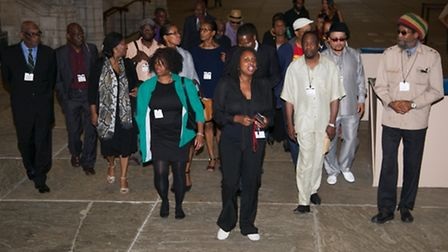 Dawn Butler MP took some of the invitees on a tour of the House of Commons (Pic credit: Angela Blake