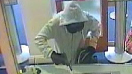 CCTV image of Byrne robbing a bank in The Strand