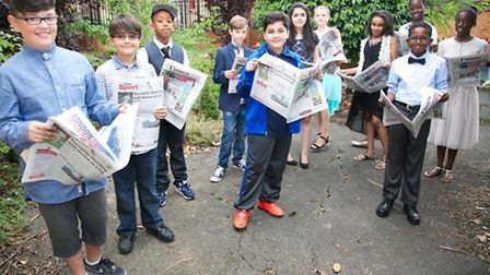 Chalkhill Primary School leavers delighted to see their letters printed in the Times Pic credit: