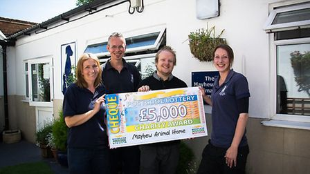 Mayhew has been given a �5,00 donation from the People�s Postcode Trust (Pic credit: Magda Wrzeszcz)