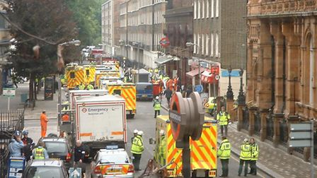 The scene in London on 7/7. Picture: Francis Tyers