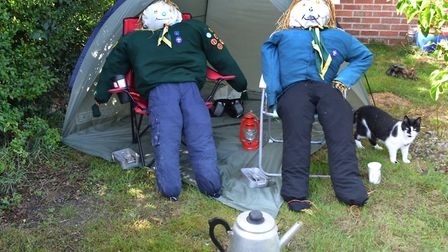 The Reydon Scarecrow Trail in 2017. 1st Southwold Scouts. Pictures: Mick Howes
