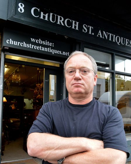 Stuart Shuster, who has run his antiques dealership for 32 years fears he will have to shut up shop