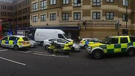 A man died at Angel tube station after being hit by a train at lunchtime