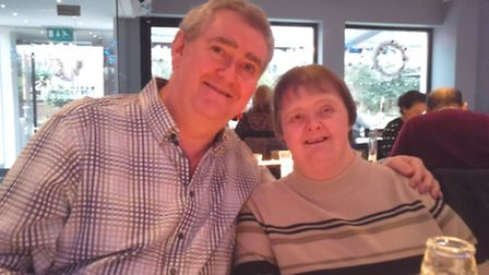 Ken Knight with his sister Sheila who lives at Tudor Gardens Residential Home