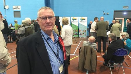 Labour councillor Peter Byatt pictured at the first East Suffolk Council elections. Picture: Thomas