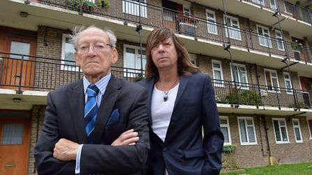 "Doug Radcliffe MBE, 91, and son Greg are leading the ""anti-cladding"" campaign"