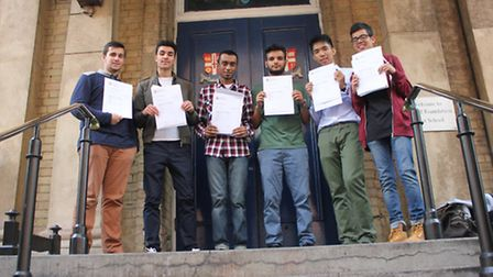 Yousef Nisbet who achieved 8 A*s and 3 As, Younes Taleb who achieved 7 A*s and 6 As, Samiul Ahmed wh
