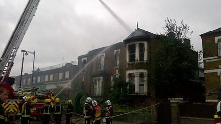 The fire damaged part of the top floor and the roof of the former social club