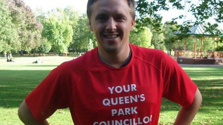 Cllr James Denselow has bcome the first Queen's Park Champion