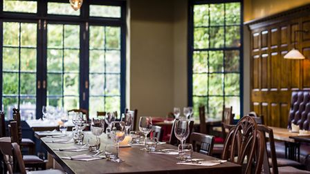 The dining room at The Canonbury, Islington