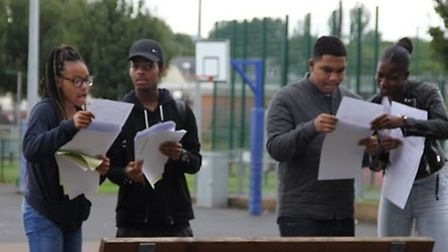The school's first crop of GCSE students celebrated success this morning