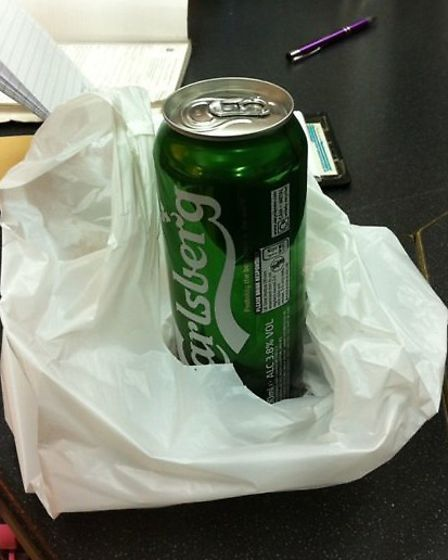 The shop sold this can of beer to a 13-year-old girl (Pic credit: Brent Council)