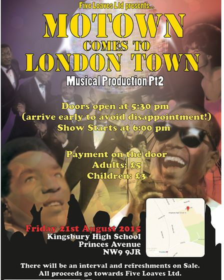 Children from Brent are putting on a performance of Motown Comes To London for charity