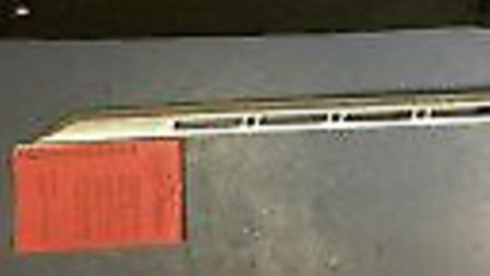 The sword that officers recovered