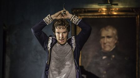 Benedict Cumberbatch (Hamlet) in Hamlet at the Barbican. Picture: Johan Persson