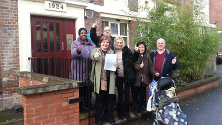 Emily Thornberry MP met with residents of Sutton Dwellings
