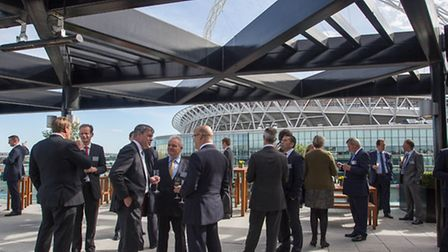 The reception to launch the plans for 75,000 sq ft of office space was held at the Hilton Sky Bar (P