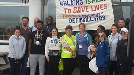 A team of 10 staff from NEL IT Support, based at Beccles House in Beccles, walked a 13.3-mile half m