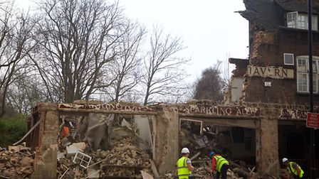 The pub was demolished without warning and with no permission