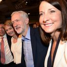Jeremy Corbyn (centre) accepts congratulations after he was announced as the Labour Party's new lead