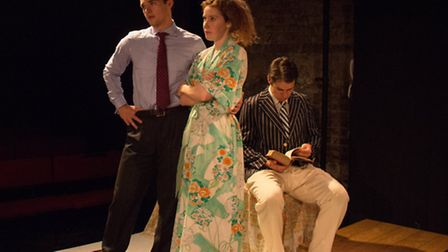 Jamie Chandler, Chloe Walshe and Alex Warner in The Man Who Had All The Luck at King's Head Theatre.