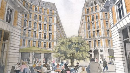 An artist's impression of what the Mount Pleasant development would look like, including retail unit