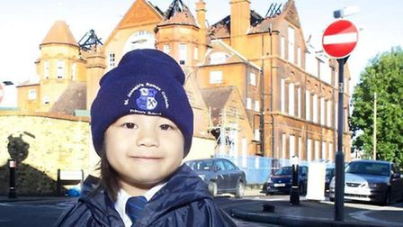 Jasmin Toletino, 3, arrived ready for nursery to find St Joseph's would be closed until further noti