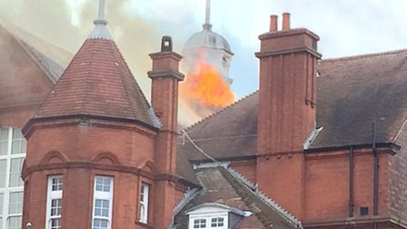 The fire took place at St Joseph's Primary School yesterday afternon