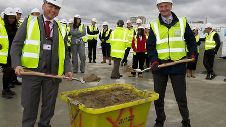 Cllr Bernard Collier of Brent Council and Stuart Laird, COO and managing director (South) of United