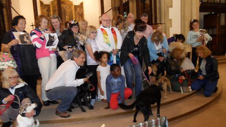 An animal blessing at St Martin's Church in Kensal Green now in its 16th year