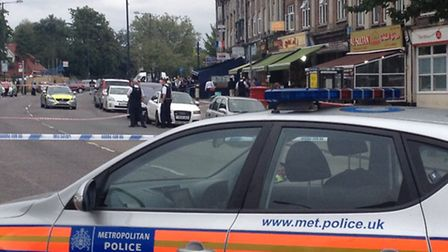 Police are currently at the scene in Kingsbury Road (Pic credit: Nathalie Raffray)