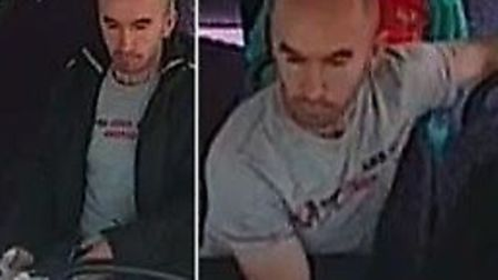 Police are looking to speak to this man in connection with the sexual assault on route 18 bus on May