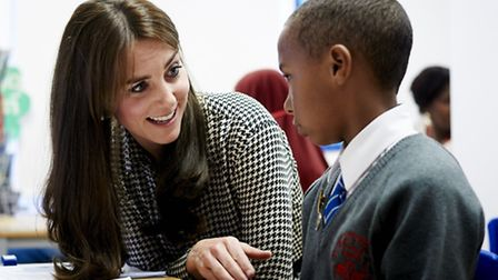 The Duchess of Cambridge at Thursday's visit. Picture: Anna Freud Centre