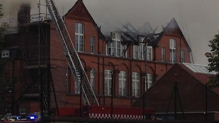 Fire fighters are still struggling to contain fire damage to the rood of St Joseph's RC Primary scho
