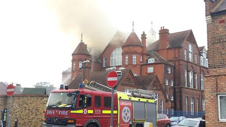 Eight fire engines rushed to the scene of the blaze at 3pm this afternoon