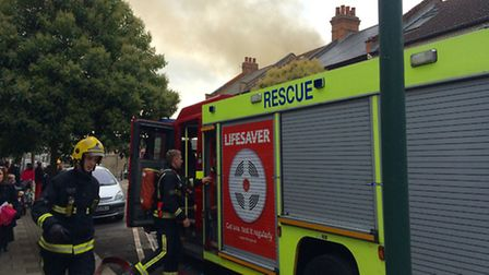 Eight fire engines arrived on the scene at 3pm to tackle the flames