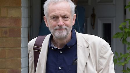 Mr Corbyn leaves his home in Finsbury Park on Sunday. Picture: PA/Press Association Images
