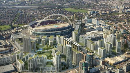 An aerial view of Wembley Park