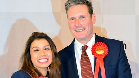 Tulip Siddiq and Keir Starmer (Picture: Polly Hancock)