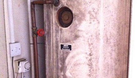 The boiler at the property (Pic credit: Brent Council)