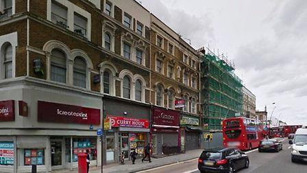 Stabbing took place on Kilburn High Road at the junction of Oxford Road (Pic credit: Google streevie