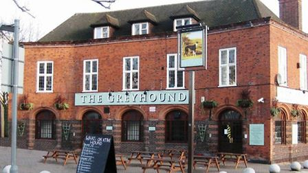 The former Greyhound Pub currently being refurbished in to a bar, restaurant and 15 room hotel